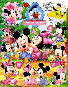 Baby Mickey Minnie Donald Pluto Disney Sticker PM597