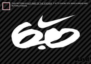 Nike 6.0 Sticker Decal Die Cut Vinyl 2 cell phone