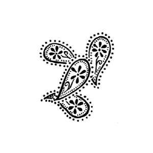 Penny Black Rubber Stamp PAISLEY Background Border NEW
