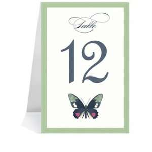 Wedding Table Number Cards   Butterfly Moss Spice Dream #1