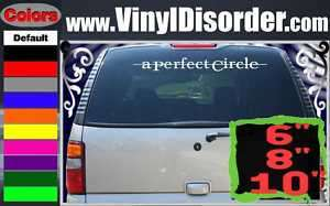 Perfect Circle Band Vinyl Car or Wall Decal Sticker