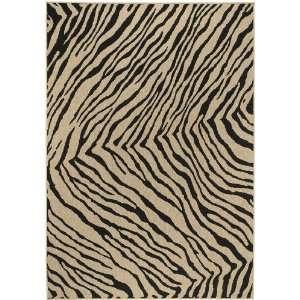 Surya Alfresco Tan Black Zebra Contemporary 3 6 x 5 6