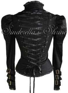 SPIN DOCTOR Open Cleavage~STEAMPUNK~ Corset Jacket GOTH