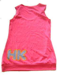 HELLO KITTY~ HOT PINK NEON CINCH STRAP TANK TOP SMALL