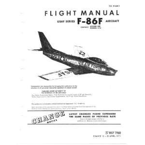 Aviation F 86 F Aircraft Flight Manual North American Aviation Books