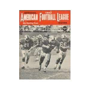 Official American Football League Guide (1967) Mike
