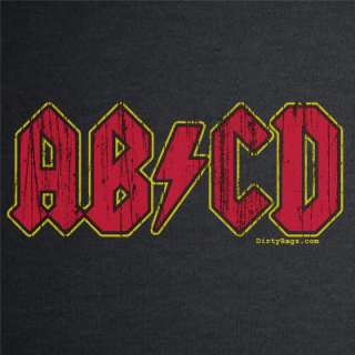 ABCD ROCK COOL BLACK acdc BABY INFANT T SHIRT 12 MO