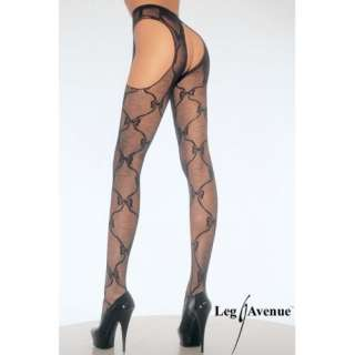Bow Lace Garter Belt Suspender Nylon Stocking with Bow
