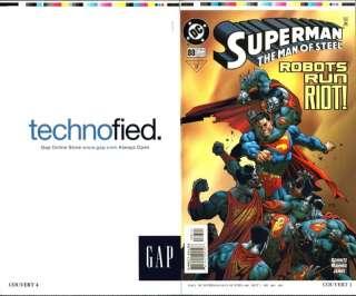 Man of Steel Comic Book Uncut Cover Page Action Comics Super Hero Art