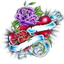 20 WATER SLIDE NAIL ART DECALS PURPLE RED BLUE ROSE