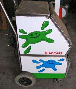 GumCart Gum Graffiti Removal Machine, Floor Carpet Steam Cleaner Cart