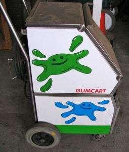 GumCart Gum Graffiti Removal Machine, Floor Carpet Steam Cleaner Cart