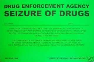 Humiliating Prank Sign   SEIZURE OF DRUGS