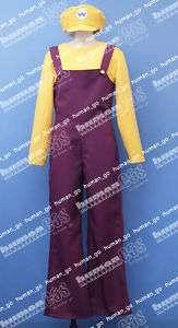 Super MARIO Bros Wario Cosplay Costume Size M Nintendo