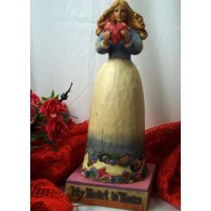 ENESCO Jim Shore Girl W/ Heart Home & Kitchen