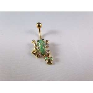 Gold Frog Belly Ring
