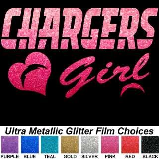 San Diego Chargers Pink Metallic Auto Window Decals NFL