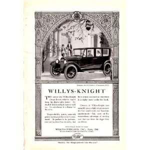 1920 Ad Willys Knight British Embassy Original Antique Car
