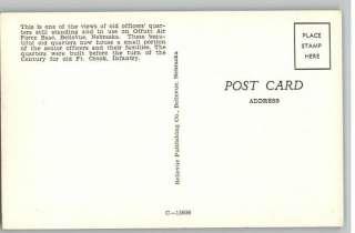 Postcard Offutt Air Force Base QuartersBellevue,NE