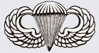US ARMY AIRBORNE WINGS BASIC STICKER/DECAL   MADE IN THE USA