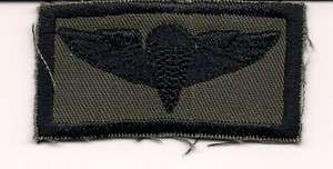 UNKNOWN MILITARY CLOTH PARACHUTIST AIRBORNE JUMP WINGS PATCH