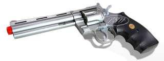 938 UHC 6 Inch Revolver Airsoft Gun Pistol Spring Silver BBs Free