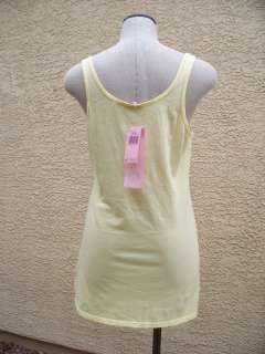 NWT $68 JUICY COUTURE YELLOW LADY JUICY POLAROID LOGO JERSEY TANK TOP