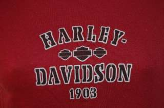 HARLEY DAVIDSON Shirt Womens Maroon Top Small GUAM