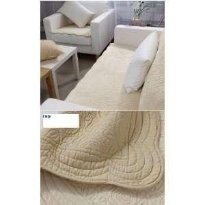 Velvet Sofa Cushion Couch Chair Cover Pad Throw Pet Mat Beige 35 X
