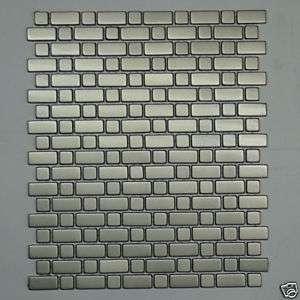 Stainless Steel Metal Tile Mosaic backsplash wall 4m40