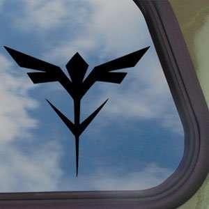 Gundam Black Decal Neo Zeon Insignia Logo Window Sticker