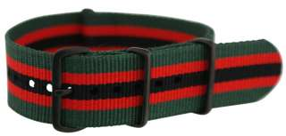 PVD JAMES BOND STRIPPED NATO Style MILITARY WATCH BAND Strap FITS ALL