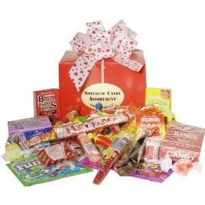 Valentine Day Nostalgic Candy Gift Box  Grocery & Gourmet