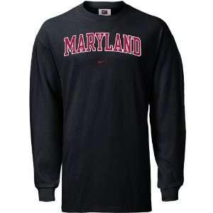 Terrapins Black College Classic Long Sleeve T shirt