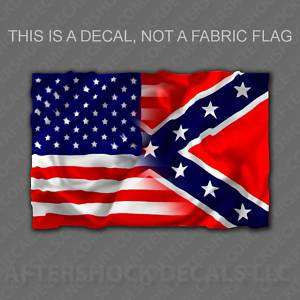 American Rebel USA Flag Decal Redneck Sticker