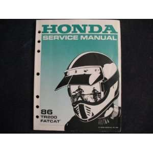 TR 200 FatCat Fat Cat New Original Factory Service Manual: Honda Motor