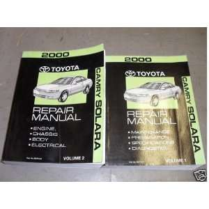 2000 Toyota Camry Solara Service Repair Shop Manual Set (2