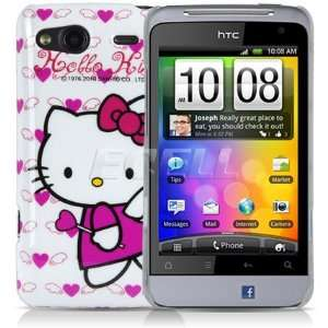 Ecell   HOT PINK HELLO KITTY ANGEL HARD BACK CASE FOR HTC