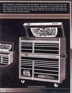 Harley Davidson 100th Anniversary Snap on Tool Box New