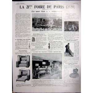 Fair Paris Foire Machines Telephone Vacuum France 1929