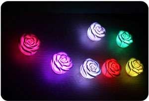 Changing Color Floating Rose Flower LED Candle lights