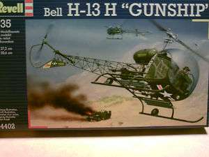 Revell ARMY Bell H 13H Gunship Helicopter Model Kit NIB 135 Scale