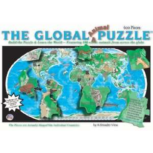 The Global Animal World Map Puzzle Toys & Games