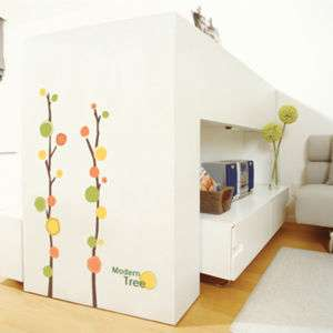 MODERN TREE Home Decor Vinyl Wall Decals Stickers Paper
