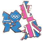 Official London 2012 Summer Olympics Union Flag United Kingdom Pin