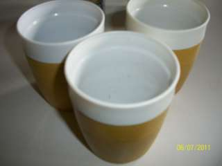 Vtg 3 Olympian Therm O Ware Tumblers Yellow 8 oz