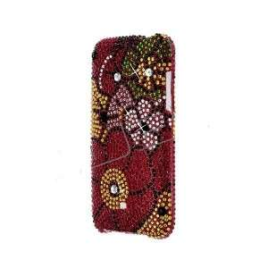 Flower BLING CRYSTAL COVER CASE 4 APPLE iPOD TOUCH 2/3