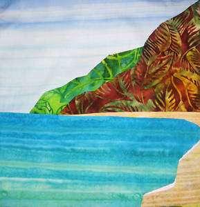 POLIHALE BEACH~ Tropical Batik Applique Quilt Pattern