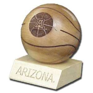 Arizona Wildcats Laser Engraved Wood Basketball Sports