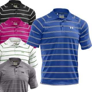 Under Armour 2012 Mens Catalyst Stripe Golf Polo Shirt   Moon Shadow